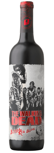 the walking dead wine blood red blend