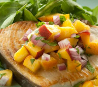 Swordfish recipe featured for food and wine pairings