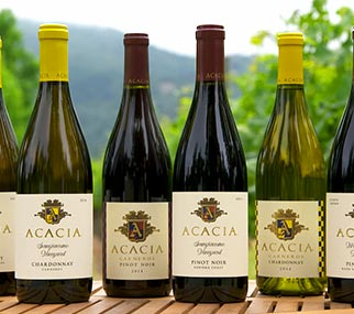 acacia vineyard pinot noir and chardonnay full wine portfolio