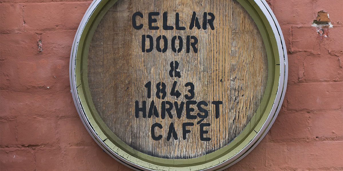 Lindemans Cellar Door Cafe Sign