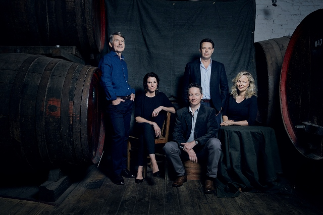 Wolf Blass winemakers Chris Hatcher, Marie Clay, John Ashwell, Steven Frost and Clare Dry